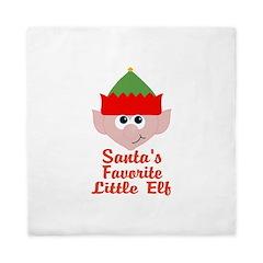 Santas Favorite Little Elf Queen Duvet