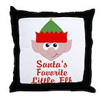 Santas Favorite Little Elf Throw Pillow