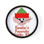 Santas Favorite Little Elf Wall Clock