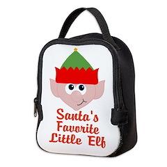 Santas Favorite Little Elf Neoprene Lunch Bag