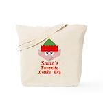 Santas Favorite Little Elf Tote Bag