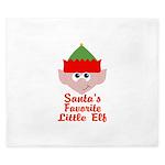 Santas Favorite Little Elf King Duvet