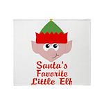 Santas Favorite Little Elf Throw Blanket