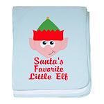 Santas Favorite Little Elf baby blanket