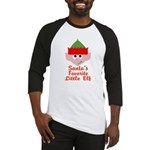 Santas Favorite Little Elf Baseball Jersey