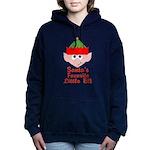 Santas Favorite Little Elf Women's Hooded Sweatshi