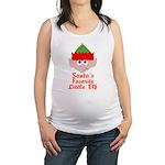 Santas Favorite Little Elf Maternity Tank Top