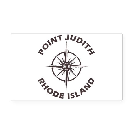 Rhode Island - Point Judith Rectangle Car Magnet
