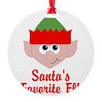 Santas Favorite Elf Ornament
