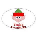 Santas Favorite Elf Sticker