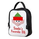 Santas Favorite Elf Neoprene Lunch Bag