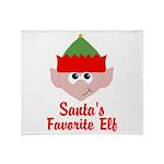 Santas Favorite Elf Throw Blanket