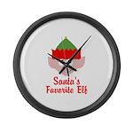 Santas Favorite Elf Large Wall Clock