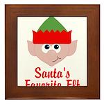Santas Favorite Elf Framed Tile