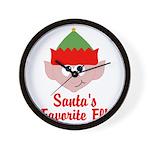 Santas Favorite Elf Wall Clock
