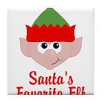 Santas Favorite Elf Tile Coaster