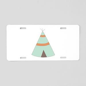 Indian Teepee Aluminum License Plate