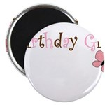 Birthday Girl Pink Butterfly Magnets
