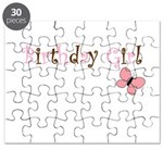 Birthday Girl Pink Butterfly Puzzle