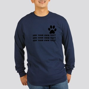 Dog's paw Long Sleeve Dark T-Shirt