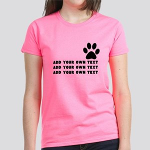 Dog's paw Women's Dark T-Shirt