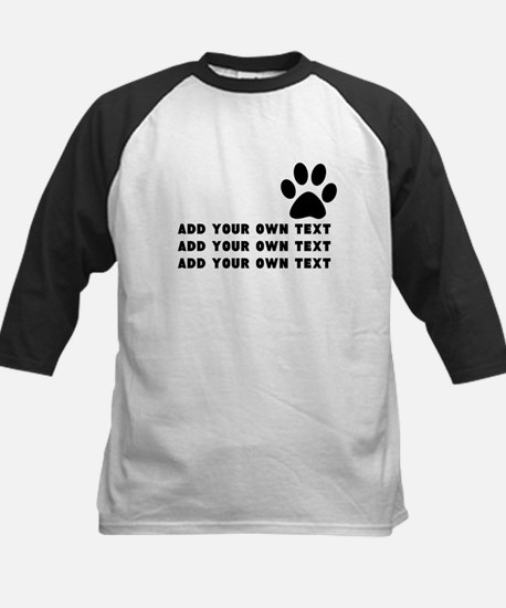 Dog's paw Kids Baseball Jersey