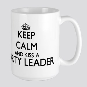 Keep calm and kiss a Party Leader Mugs