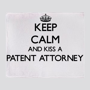 Keep calm and kiss a Patent Attorney Throw Blanket