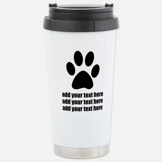 Dog's paw Stainless Steel Travel Mug