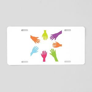 Diversity Hands Aluminum License Plate