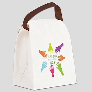 Team Work Canvas Lunch Bag