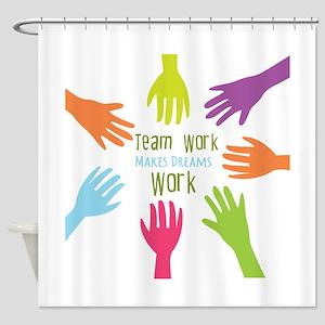 Team Work Shower Curtain