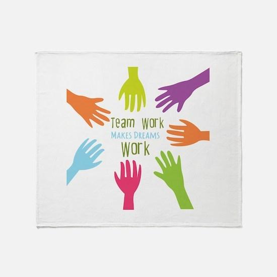 Team Work Throw Blanket