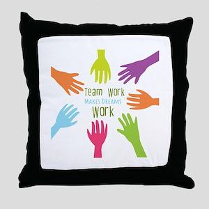Team Work Throw Pillow