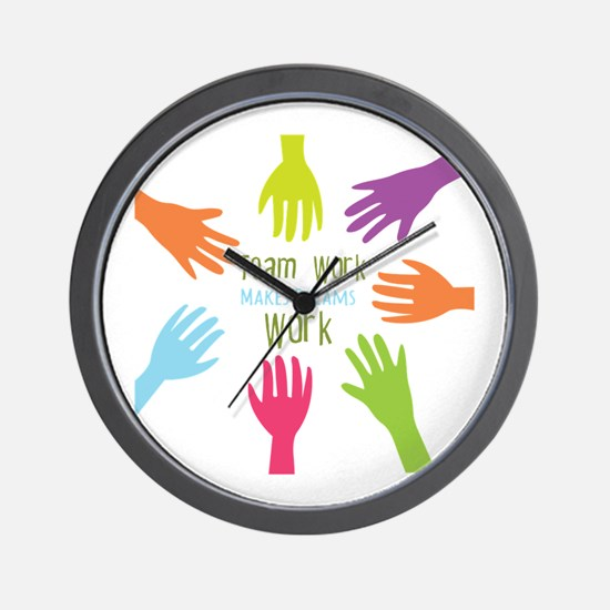 Team Work Wall Clock