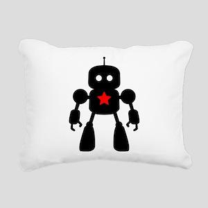 Robot Rectangular Canvas Pillow