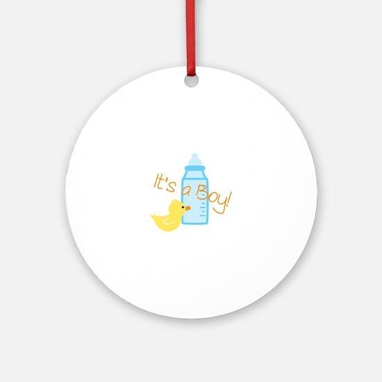 Its a Boy Ornament (Round)