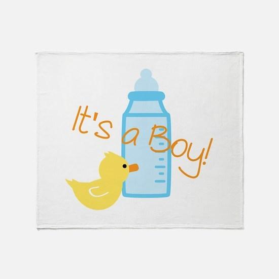 Its a Boy Throw Blanket