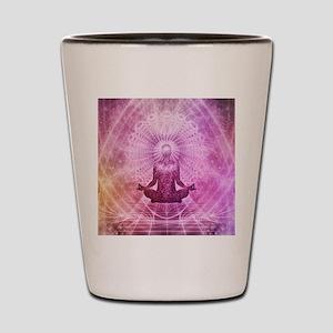 Spiritual Yoga Meditation Zen Colorful Shot Glass