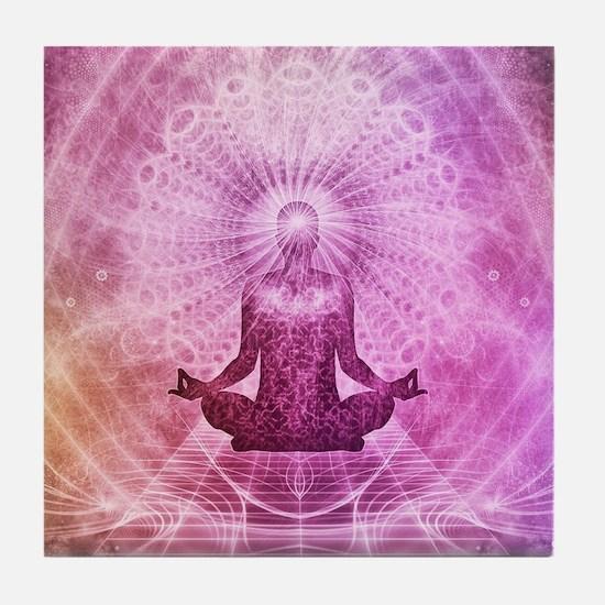 Spiritual Yoga Meditation Zen Colorfu Tile Coaster