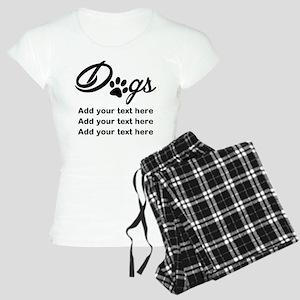 custom add text dog's paw Women's Light Pajamas