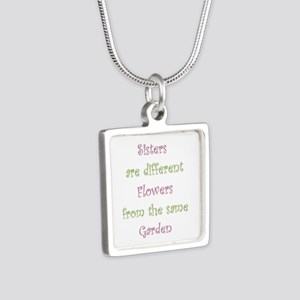 Sisters Different Flowers Same Garden Necklaces