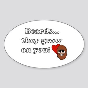 Resden Beard Humor Oval Sticker