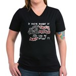 A Truck Driver Like My Aunt Women's V-Neck Dark T-