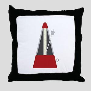 Musical Metronome Throw Pillow