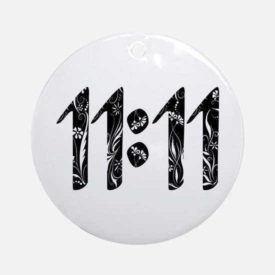 11:11 Floral Ornament (round)