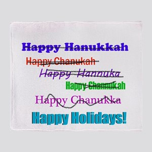 happyhanukkah Throw Blanket