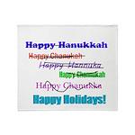 happyhanukkah.png Throw Blanket