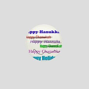 happyhanukkah Mini Button