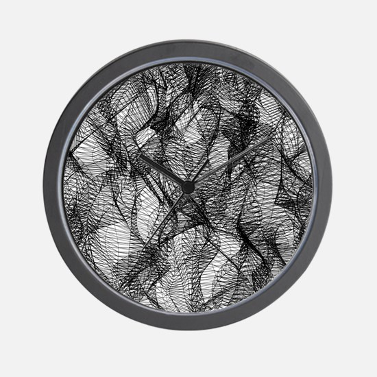 Black Mesh Lace Wall Clock